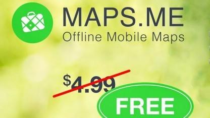 Maps.Me Pro gibt es ab sofort kostenlos.