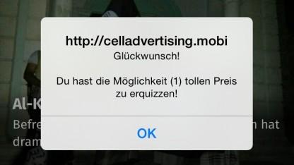 Lästiger Pop-up-Spam im Vodafone-Netz