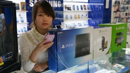 PS4 bei chinesischem Händler in Shanghai