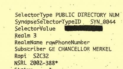 Dieses angebliche Dokument von einem NSA-Auftrag soll von einem Spiegel-Redakteur selbst angefertigt worden sein.
