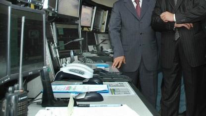 Ein Kontrollzentrum an der Pipeline Baku-Tbilisi-Ceyhan 2008