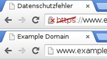 Ähnlich wie vor fehlerhaften HTTPS-Verbindungen soll bald auch vor HTTP gewarnt werden.