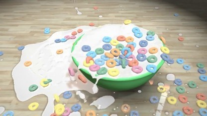 Partikelsimulation: Nvidias Flex rührt das Müsli an