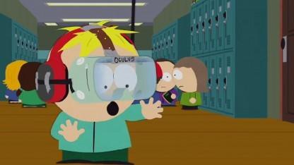Butters erlebt seine Umwelt in South Park mit der Oculus-Taucherbrille.