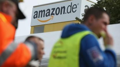 Wollen bis Samstag streiken: Amazon-Mitarbeiter am Standort Leipzig