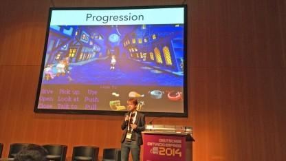 Linda Breitlauch auf dem Entwicklerpreis Summit 2014