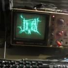Spannung: Quake auf einem Oszilloskop