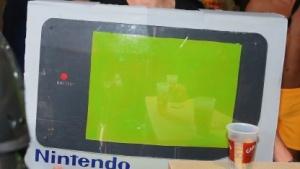 Nintendo-Werbung auf einer Messe