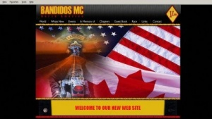 Website des Motorradclubs Bandidos aus dem Jahr 2006