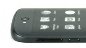 Yotaphone 2 mit E-Paper-Touchscreen auf der Rückseite