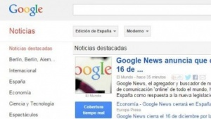 Google macht sein spanisches Google News am 16. Dezember 2014 dicht.