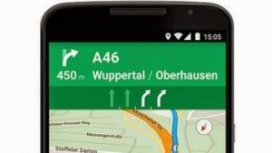 Google Maps mit Fahrspurassistent