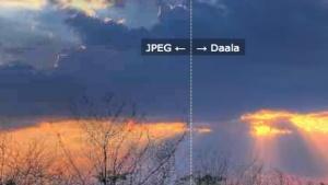 Daala zeigt gute Leistung bei Standbildern in Videos.