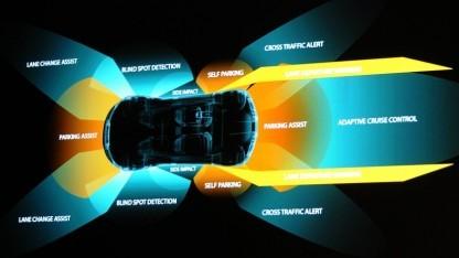 Rundumblick mit heutigen Autos - laut Nvidia bald nur mit Kameras