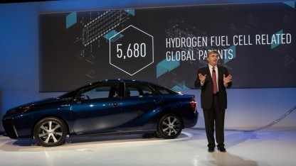 Toyota-Präsentation auf der CES 2015: Im Mirai steckt viel neue Technik.