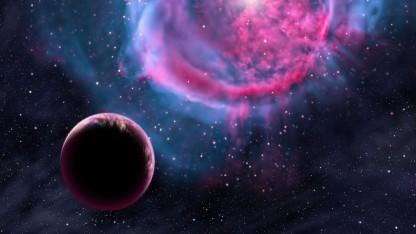 Künstlerische Darstellung eines Exoplaneten: acht Planeten in der habitablen Zone