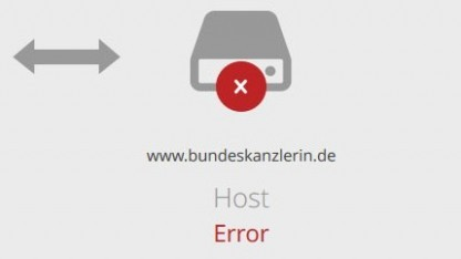 Mehrere Stunden lang war die Website Angela Merkels nicht zu erreichen.