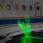 DLR-Forschungsflugzeug: Laser macht Luftströmung um die Tragfläche sichtbar