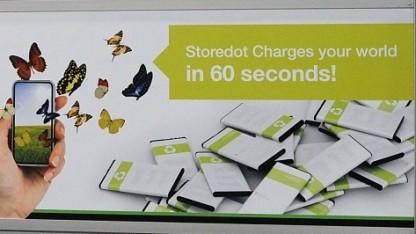 Werbung am leeren Stand von Storedot