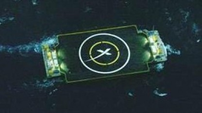 Autonomous Spaceport Drone Ship: Die Landeplattform unterwegs im Atlantik.