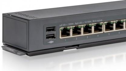 Netgears Click-Switch-Serie hat USB-Anschlüsse.