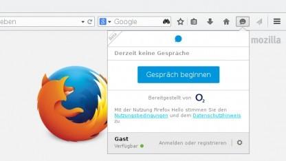 Der Hello-Client in Firefox 35 verweist auf die Technik der Telefónica-Tochter Tokbox.