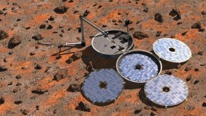 Künstlerische Darstellung von Beagle 2 auf dem Mars: Melodie von Blur zur Erde funken