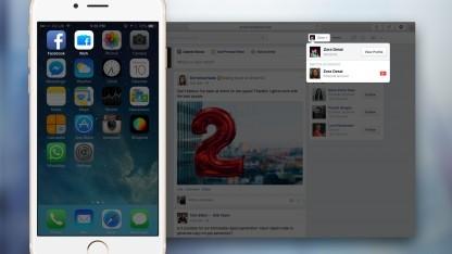 Facebook at work funktioniert per App und im Browser.