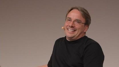 Linus Torvalds auf der Linuxcon Europe 2014 in Düsseldorf