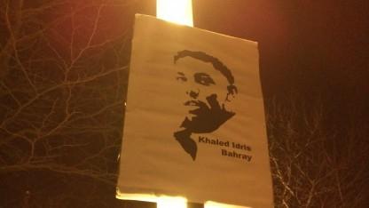 Mahnwache seit dem 14.1.2015 im Gedenken an den Mord an Khaled Bahray in Dresden