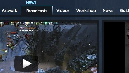 Screenshot der Steam-Broadcast-Oberfläche