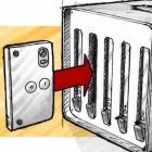 Puzzle Cluster: Computer aus ausgemusterten Smartphone-Teilen