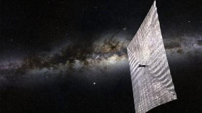 Raumsegler Lightsail: Das Segel soll von der Erde aus zu sehen sein.