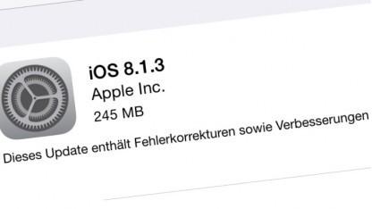 iOS 8.1.3 ist da.