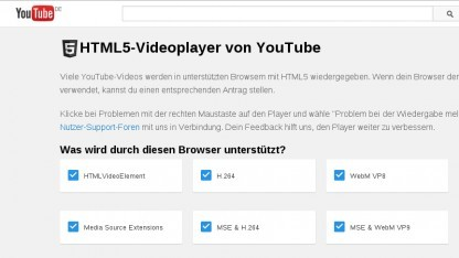 Youtube verzichtet standardmäßig auf den Flash-Player.