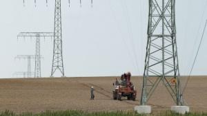 Bau von Oberleitungen in Deutschland im Jahr 2012