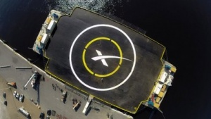 Autonomous Spaceport Drone Ship: Anflug geglückt, beim Aufsetzen umgekippt