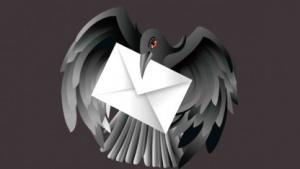 Eine schwarze Taube ist das Symbol des geplanten Mail-Standards der Dark Mail Alliance.
