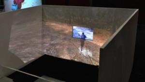 Das Modell des Wohnzimmers mit 180-Grad-Beamer