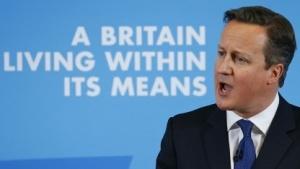 David Cameron bei seiner Rede in Nottingham