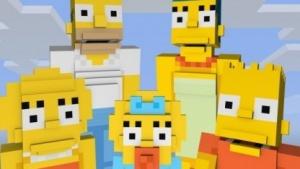 Die Simpsons im Minecraft-Look