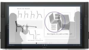 Surface Hub ist ein Videokonferenzsystem mit Stift- und Fingereingabe.