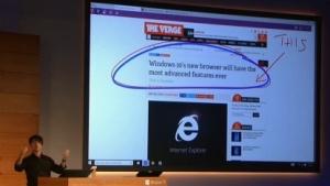 Microsofts Vorführung des neuen IE auf dem Windows-Day