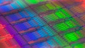 Ein Wafer mit 22-nm-Haswell-Prozessoren