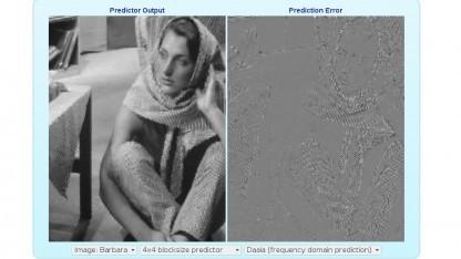 Die Bildvorhersage von Daala und der Vorhersagefehler