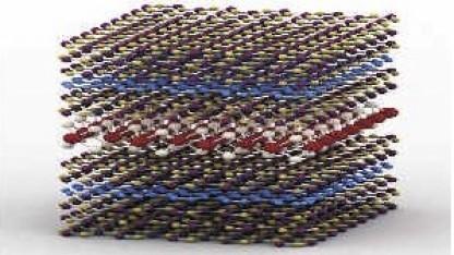 LED-Heterostruktur: Lagen verschiedener zweidimensionaler Halbleiter