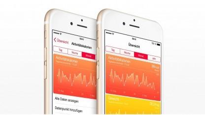 Apples Health-App, die zahlreiche gesundheitsrelevante Daten darstellen kann