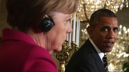 Die NSA-Affäre spielte beim Treffen zwischen Obama und Merkel keine große Rolle.