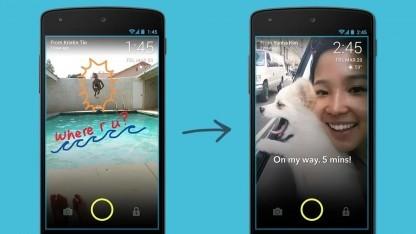 Mit Screenpop können Fotos direkt auf dem Sperrbildschirm des Gesprächspartners angezeigt werden.