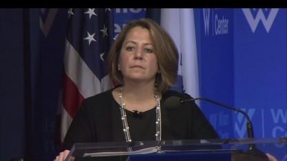 US-Sicherheitsberaterin Lisa Monaco präsentiert die neue Sicherheitsbehörde gegen Cyberangriffe.